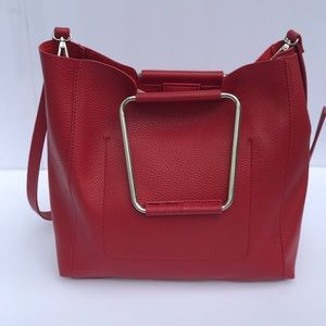 🆕 Zara Cherry Red Tote/Satchel